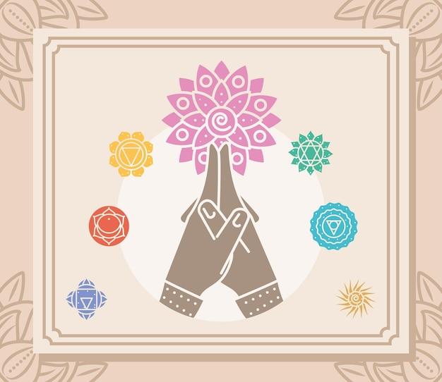 Mandala di yoga delle mani