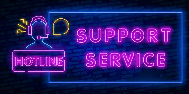 Icona della luce al neon del microtelefono. chiamata in arrivo. hotline. supporto telefonico segno incandescente