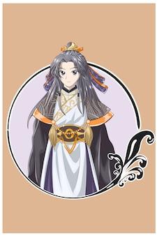 Un bel giovane imperatore maestro dell'antico regno