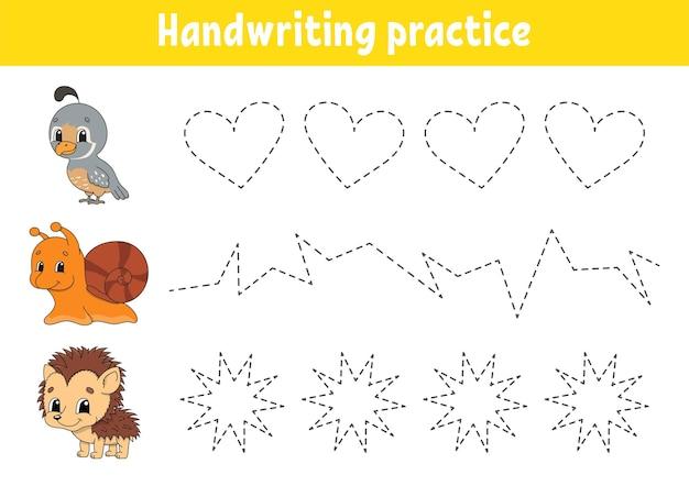Pactice di scrittura a mano.