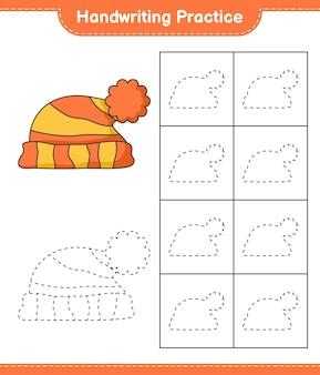 Pratica di scrittura a mano tracciare le linee del foglio di lavoro stampabile del gioco educativo per bambini