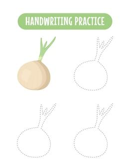 Pratica della scrittura a mano che traccia le linee dei bambini educativi vegetali che scrivono il gioco di pratica