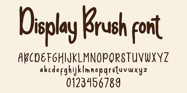 Alfabeto dei caratteri del display scritto a mano