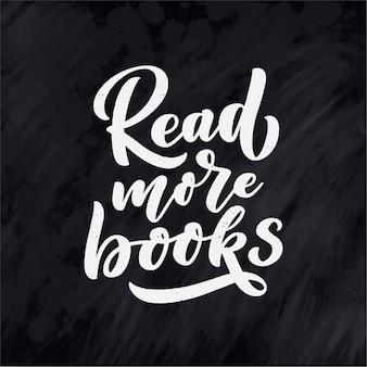 Lettere scritte a mano su libri e lettura