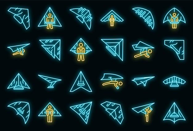 Icona del deltaplano, stile contorno