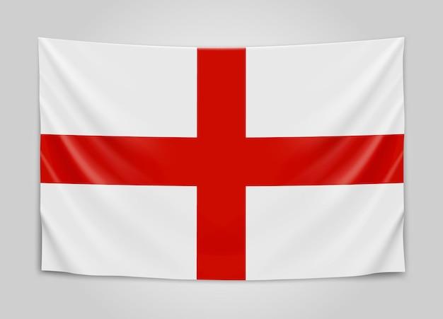 Appendere la bandiera dell'inghilterra. inghilterra.