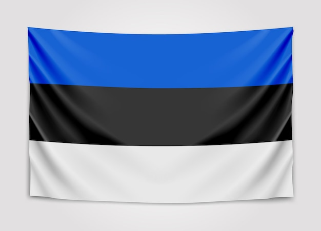 Appendere bandiera dell'estonia. repubblica di estonia. bandiera nazionale