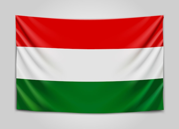 Bandiera d'attaccatura dell'ungheria. ungheria. ungherese