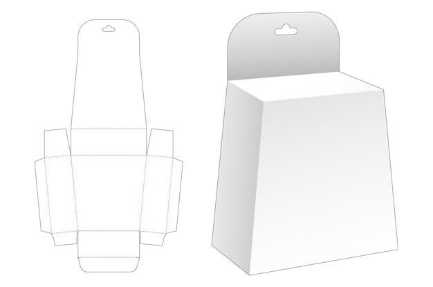 Modello fustellato di imballaggio di obelisco appeso