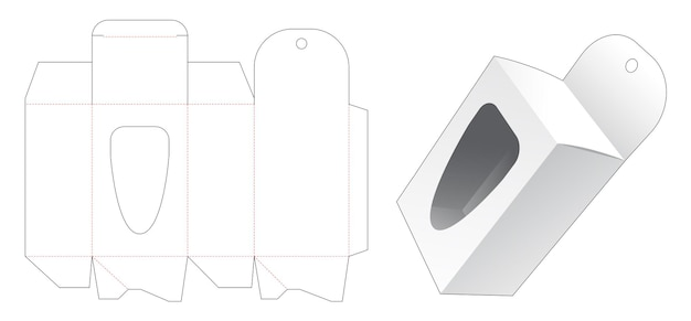 Scatola da imballaggio sospesa con sagoma per finestra