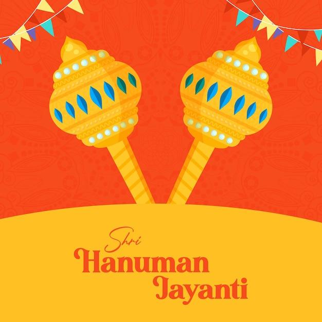 Hanuman jayanti banner design template