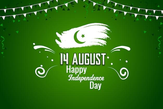 Felice giorno dell'indipendenza pakistana del 14 agosto