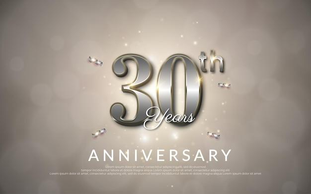 Buon anniversario di 30 anni con illustrazione del numero
