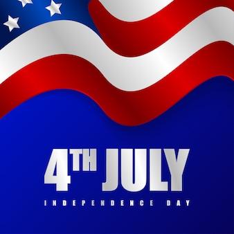 Illustrazione felice del fondo di festa dell'indipendenza dell'america