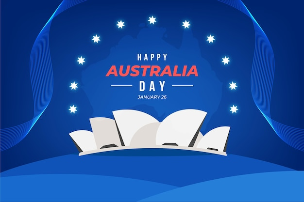 Design piatto felice giorno australia