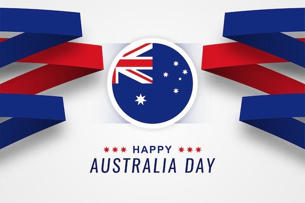 Disegno felice del modello dell'illustrazione di giorno dell'australia