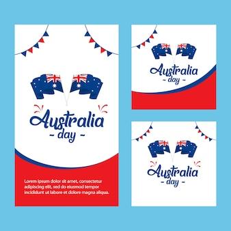 Felice modello di vettore di australia day. design per banner digitale o stampa.