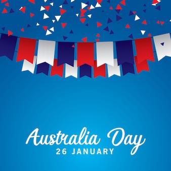 Felice giorno di australia vettoriale