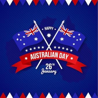 Happy australia day con bandiera