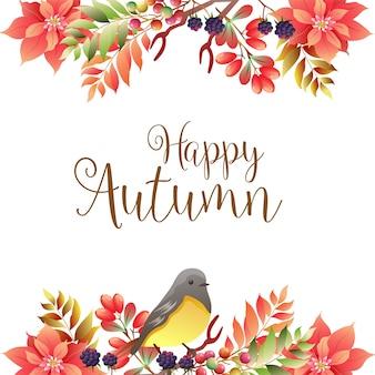 Felice confine d'autunno con il canto degli uccelli