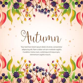 Felice autunno foglie colorate frontiere barberies