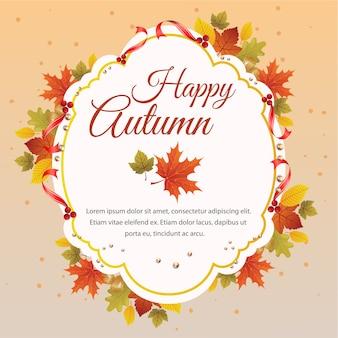 Foglie felici del fogliame della natura di autunno