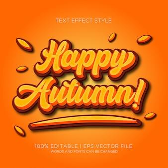 Effetti di testo autunno felici