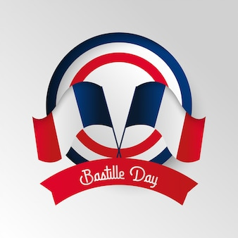 Illustrazione felice del fondo di giorno della bastiglia. illustrazione di festa nazionale francese