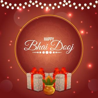 Cartolina d'auguri felice celebrazione bhai dooj