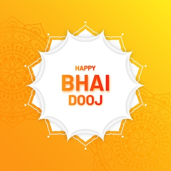 Happy bhai dooj festival indiano illustrazione