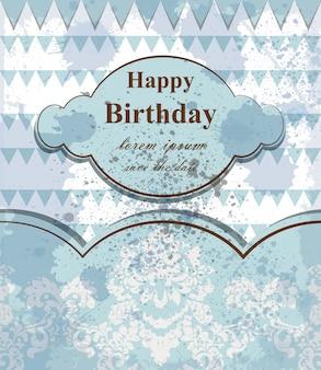 Carta di buon compleanno bambino