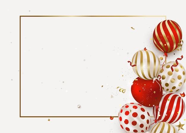 Sfondo di palloncini buon compleanno