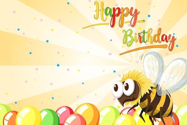 Carta di ape di buon compleanno