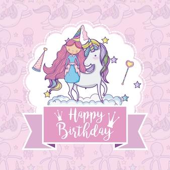 Buon compleanno carta per ragazze