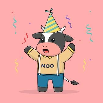 Mucca di buon compleanno