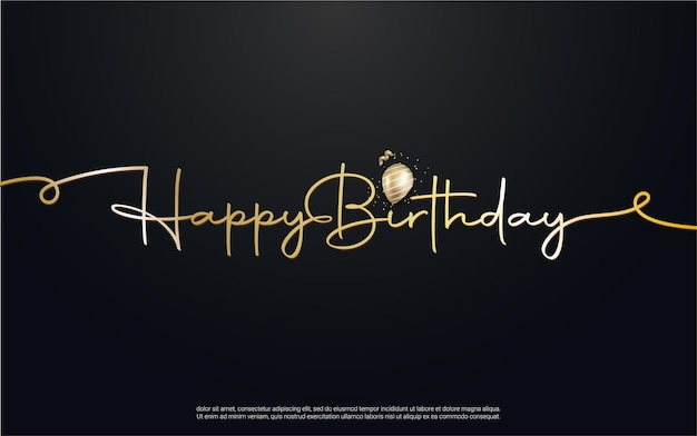 Scritte di buon compleanno con palloncino realistico
