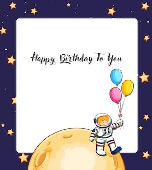 Carta dello spazio di buon compleanno