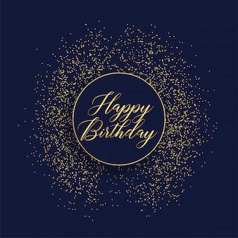 Buon compleanno design elegante carta con glitter