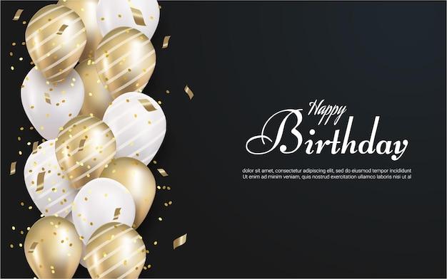 Buon compleanno con palloncino realistico