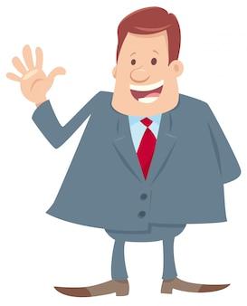 Illustrazione di personaggio dei cartoni animati felice capo