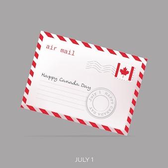 Biglietto di buon giorno del canada con busta