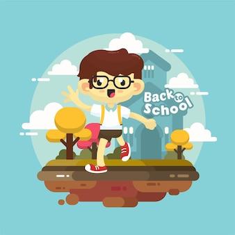 Bambini felici ritorno a scuola