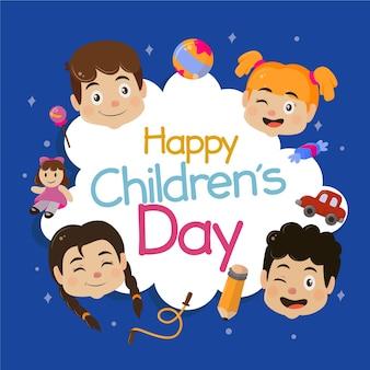 Celebrazione del giorno dei bambini felici