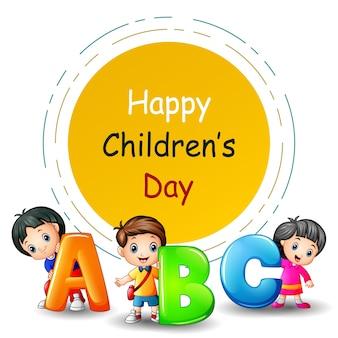 Illustrazione di giorno dei bambini felici