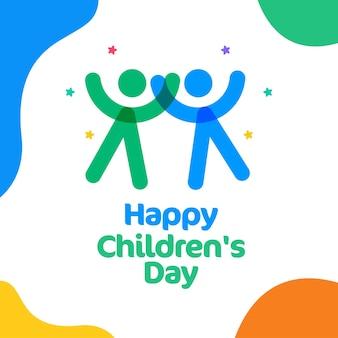 Modello di banner per il giorno dei bambini felici