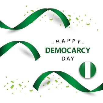 Disegno felice del modello di vettore di giorno di democrazia