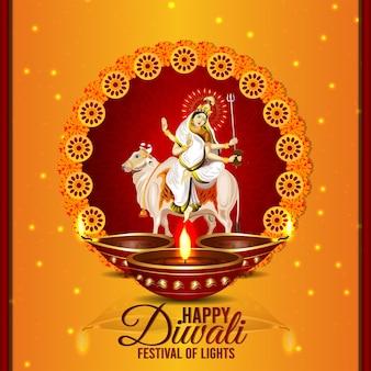 Felice diwali celebrazione banner diwali il festival della luce