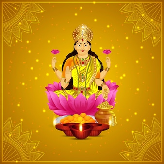 Cartolina d'auguri felice celebrazione diwali con illustrazione vettoriale