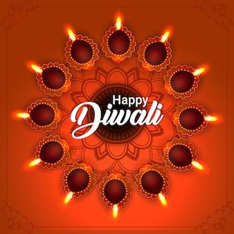 Felice festa di diwali dello sfondo di celebrazione dell'india