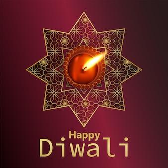 Buon diwali festival di sfondo chiaro